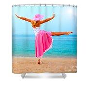 Woman Dancing Shower Curtain