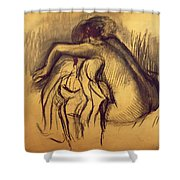 Woman Drying Shower Curtain by Edgar Degas