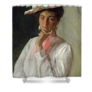 Woman In White Shower Curtain by William Merritt Chase