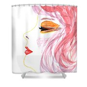 Woman Inner Trust Watercolor Painting Shower Curtain