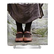 Woman Legs With Shoes Shower Curtain