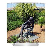 Woman On A Chair Shower Curtain