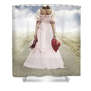 Woman On A Street Shower Curtain