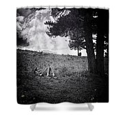 Woman On The Hill Shower Curtain