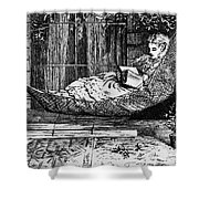 Woman Reading, C1873 Shower Curtain