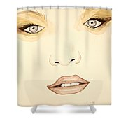 Woman Scent Sepia Shower Curtain