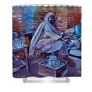 Woman Tea Shower Curtain