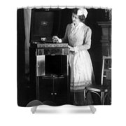 Woman With Phonograph 1908 Shower Curtain