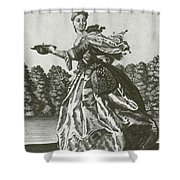 Woman With Surgical Equipment, 18th Shower Curtain