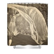 Woman With Veil Shower Curtain