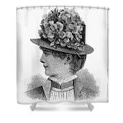 Womans Hat, 1883 Shower Curtain