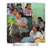 Women At The Chichicastenango Market Shower Curtain