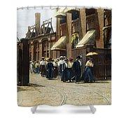 Women Leaving Work, 1895 Shower Curtain