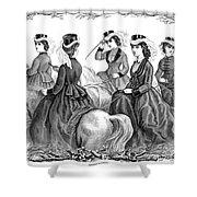 Womens Fashion, 1870 Shower Curtain