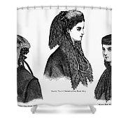 Womens Hats, 1868 Shower Curtain