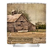 Wood Barn Shower Curtain