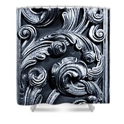 Wood Carving Patterns Shower Curtain