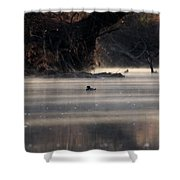 Wood Duck - On The Scenic Sucarnoochee River Shower Curtain