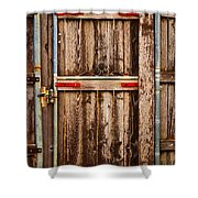 Wood Fence Door Shower Curtain
