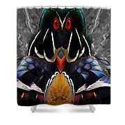 Wood Owl Shower Curtain