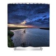 Wood River Saskatchewan Canada Shower Curtain