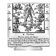 Woodcut, 1750 Shower Curtain by Science Source