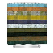 Wooden Abstract L Shower Curtain