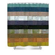 Wooden Abstract Lv Shower Curtain