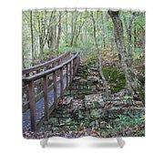 Wooden Bridge Shower Curtain