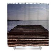 Wooden Bridge Shower Curtain by Joana Kruse