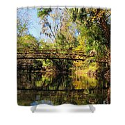 Wooden Bridge Over The Hillsborough River Shower Curtain