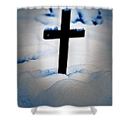 Wooden Cross Shower Curtain by Joana Kruse
