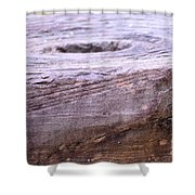 Wooden Ring Abstract Shower Curtain