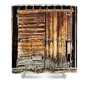 Wooden Slats Barn Shower Curtain