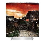 Woodern Village Shower Curtain