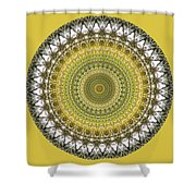 Woodland Abstract Shower Curtain