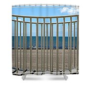 Woodlawn Beach State Park Through Playground Equipment  Shower Curtain