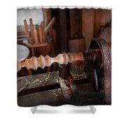 Woodworker - Lathe - Rough Cut Shower Curtain
