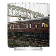 Work Train Shower Curtain