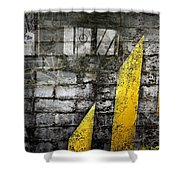 Workers Built Roads Shower Curtain