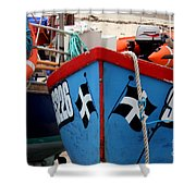 Working Harbour Shower Curtain