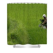 Working The Fields Shower Curtain
