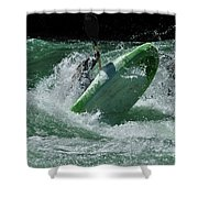 Working The Rapids Shower Curtain