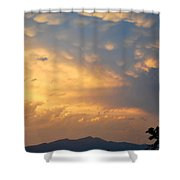 Working Up A Storm Shower Curtain
