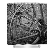 Working Wheels Shower Curtain