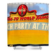 World Famous Party Shower Curtain