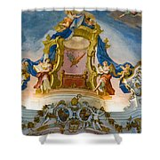 World Heritage Frescoes Of Wieskirche Church In Bavaria Shower Curtain