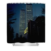World Trade Center At Dusk Shower Curtain