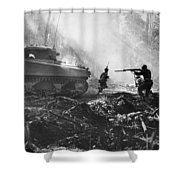 World War II: Bougainville Shower Curtain