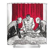 World War II: Cartoon Shower Curtain